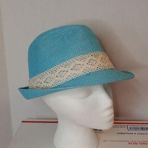 Cool Sky Blue Fedora Hat Excellent!